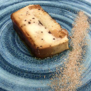 Pudding de queso con chocolate